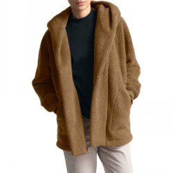 North Face Campshire Fleece Wrap 2019 in Brown, Medium, Large